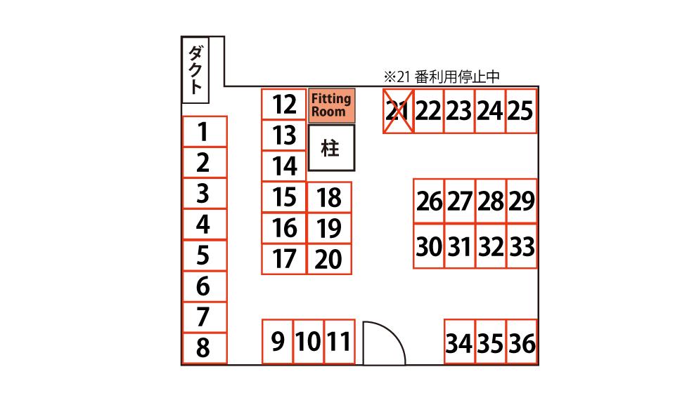 西本町店配置図